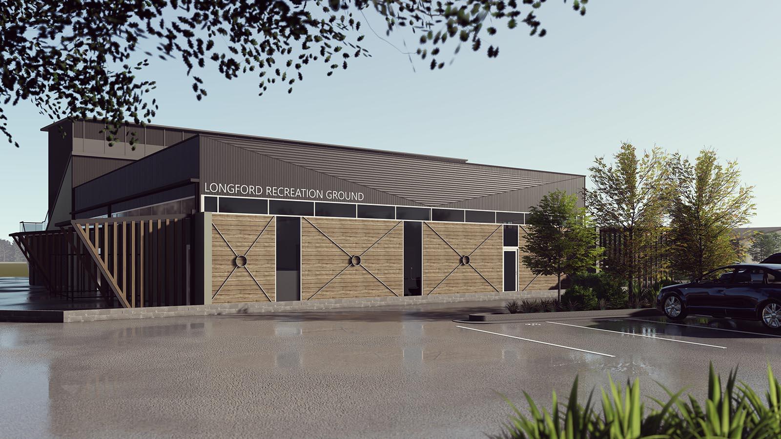 ARTAS Architects, Architects Tasmania, Longford Recreation Ground, 3D Render